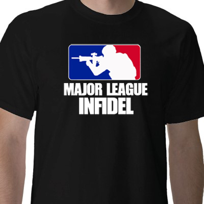 Major league infidel t shirts funny army t shirts for Cheap t shirt design websites