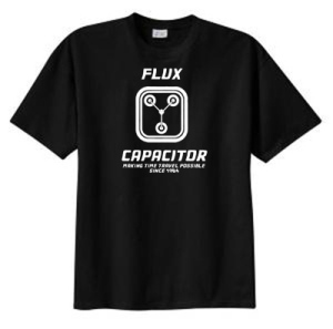 Funny flux capacitor t shirts making time travel possible for Shirt making website cheap